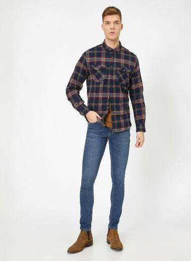 Koton Justin Super Skinny Fit Esnek Kumas Jean Pantolon Mavi